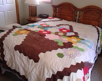 Flower Basket Quilt Top