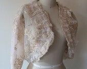 CLEARANCE IMMEDIATE SHIPPING Cream Bridal Shrug in Extra Large sizes 12-18