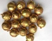 3 XL Ethiopian brass spacer beads, brass beads, Ethiopian beads, bronze beads, gold beads, spacers, craft supplies