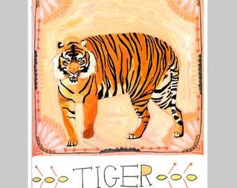 Animal Totem Print - Tiger