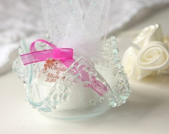 Wedding Favors Glass Votive Holder Candle Candy Dish