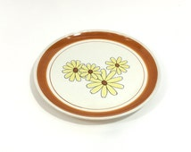 Nasco Earth Stone Japan Plate ~ Daisy Plate ~ Daisy Serving Platter ~ Earth Stone Japan Platter ~ Yellow Daisy Plate