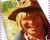 SALE 40% OFF--- Record Album Journal JOHN Denver'S Greatest Hits - Handmade Record Album Cover Journal Recycled Retro Notebook, Vintage Circ