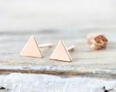 Small triangle earrings - gold filled earrings