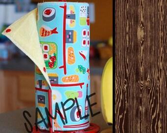 Unpaper Towel | Reusable Paper Towel - Dark Wood Grain Tree Saver Towel | Kitchen Towel | Snapping Cloth Paperless Towel