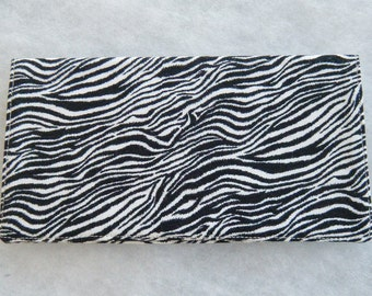 Checkbook Cover - Zebra print