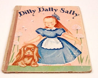 Rare 1940's Dilly Dally Sally Collectable Picture Book - Margauritte Henry ~ The Pink Room ~ 170222