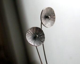 Organic Poppy Earrings