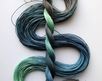 "Size 20 ""Pond"" hand dyed thread tatting crochet cotton"