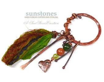 Copper Pendant Component - Bohemian, Gypsy, Rustic, Gemstone PN257