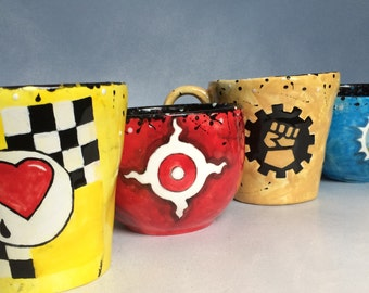 Hand painted ceramic Warhammer 40K  or gamming  mugs