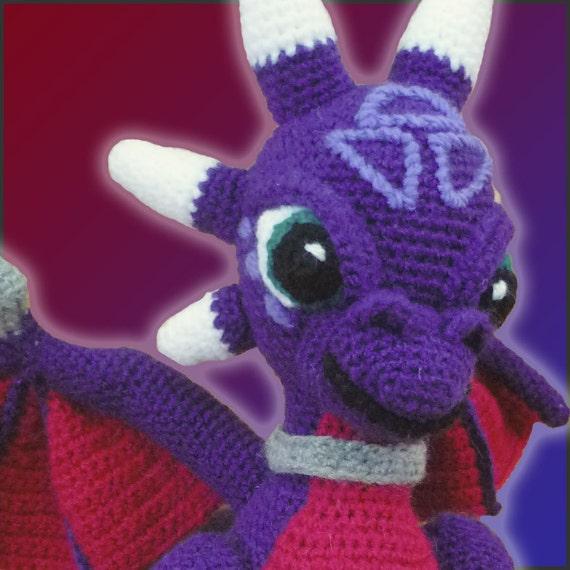 Amigurumi Dragon Allaboutami : Amigurumi Pattern Crochet Cynder Dragon DIY Digital Download
