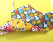 Toddler Apron • Kids Apron • Girl's Apron • Apron for Kids • Reversible Apron for Kids • Apples and Pears • Denyse Schmidt