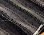 Japanese Fabric - yarn dyed yoroke knotted waves - E - 50cm