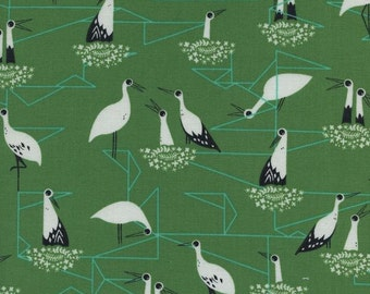 Cotton + Steel From Porto With Love - stork nest green - 50cm