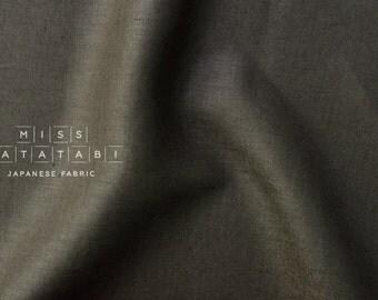 Japanese Fabric 100% linen - brownish charcoal -  50cm