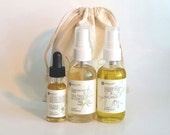 3-Step Organic Skincare Set Natural Facial Care Regimen Your Pick by Ayelet Naturals