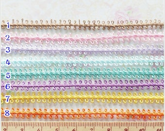 5 yards Tiny Grim Trim Lace Ribbon Sewing Tape Trim Pick You own Color