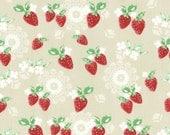 Sale (30) HALF YARD Lecien - Brown Sugar Strawberries 31380-11 - High Tea Collection by Jera Brandvig