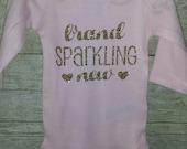 Brand Sparkling new Tshirt Bodysuit any size glitter sparkly
