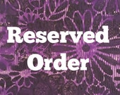 Reserved For Kym