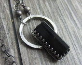 Le Petite II Necklace - Tiny Black Tourmaline Crystal in Sterling Silver