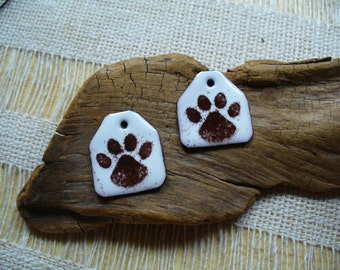 Enameled Copper Earring Pair by Catalinaglass Muddy Paws