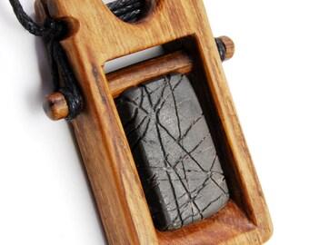 ManMade pendant - wood, stone