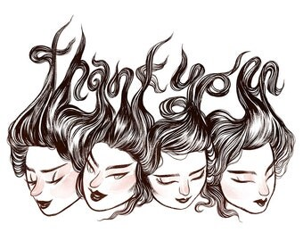 Thank You Card / Ladies