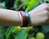 CUSTOM Triple Wrap Leather Bracelet - Select your own word.