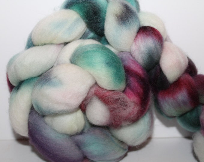 Kette Dyed Polwarth wool top. Roving. Spin. Felt. Super Soft. 4oz FREE SHIP #P30