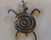 Sterling Silver Petroglyph Turtle Charm/Pendant