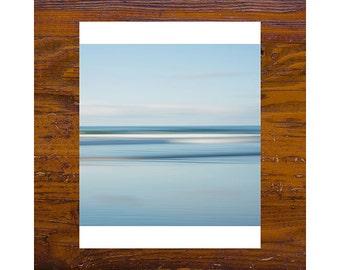 8x8 print [JCP-346] - OCEAN #3 - Freshwater Beach - impressionist, abstract, blue, beach, australia