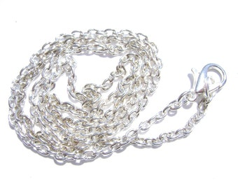 Chain Necklace Handmade Silver ptd 30 inch  - 1 , 5 or 15  Qty