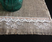 Double lace Handstitched Table center