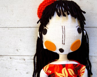 Rag Doll, Custom Doll, Fabric Dolls, Custom Portrait, Cloth Doll, Girlfriend Gift, Wedding Gift, Handmade Doll, Art Doll, Personalized Doll