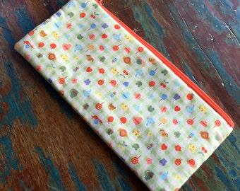 pencil zipper pouch tiny icons