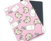 Passport Cover, Passport Holder, Passport Wallet, Passport Case, Travel Wallet, Travel Gift - Milk and Cookies on Pink
