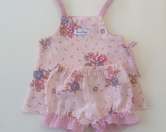 Baby Girl Side Split Set - Size 0