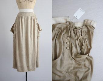 edwardian silk skirt / 1900s 1910s skirt / edwardian skirt
