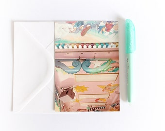 The Pastel Carousel postcard