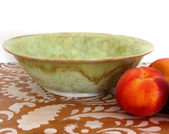 Large Stoneware Bowl - 11 inch Serving Bowl - Hand Thrown Stoneware Pottery - Ready to Ship