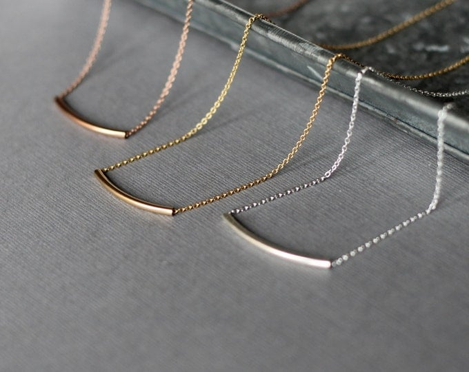 Handmade Bar Necklace - Gold Fill, Rose Gold Fill or Sterling Silver