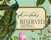 RESERVED LISTING for Cori