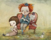 Tea Party - limited edition giclee print 11/40