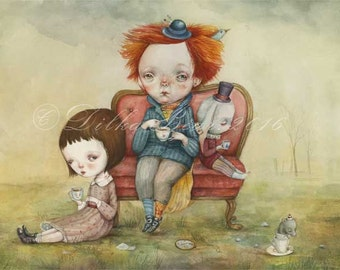 Tea Party - limited edition giclee print 5/40