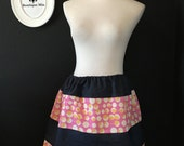 Will fit Size S up to L - Ready to MAIL - Patchwork Skirt - Amy Butler with Denim - by Boutique Mia