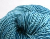 Hoosic Hand Dyed sport weight wool mohair blend 400 yds 4oz Clear Skies