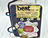 BEST FRIENDS A-Z Friendship Scrapbook Photo Mini Album ATC A to Z