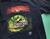 1993 Jurassic Park T-Shirt by Hanes-Made in the USA-Youth Size XL(18/20)